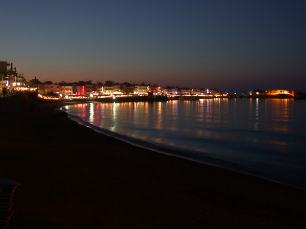 Hersonissos by night. (Kreta)