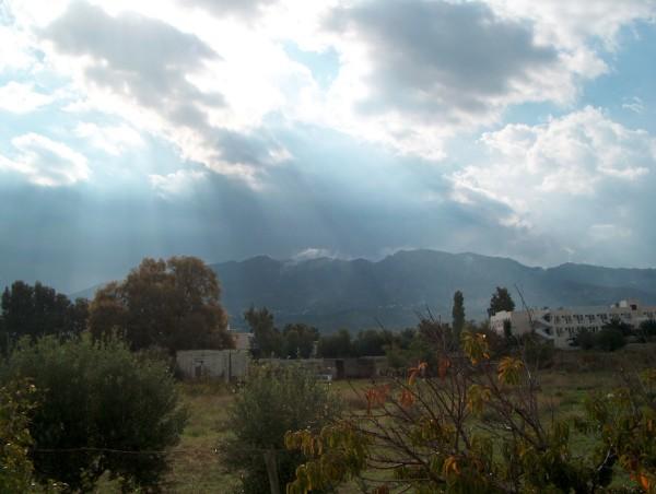 Kos, wolken in de lucht