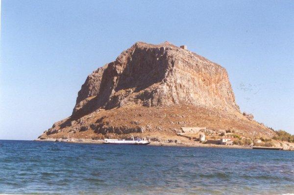 De rots van Monemvasia, Peloponnesos