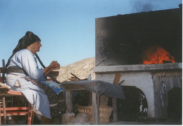 Traditionele oven Olympos Karpathos