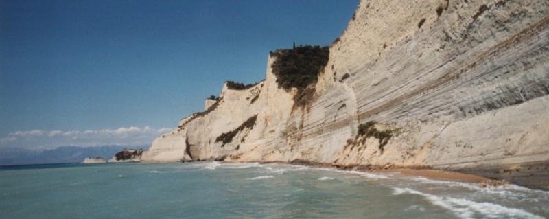 Peroulades, in het Noord-Westen van Corfu