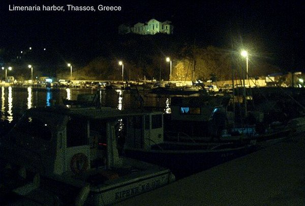 Thassos haven by night