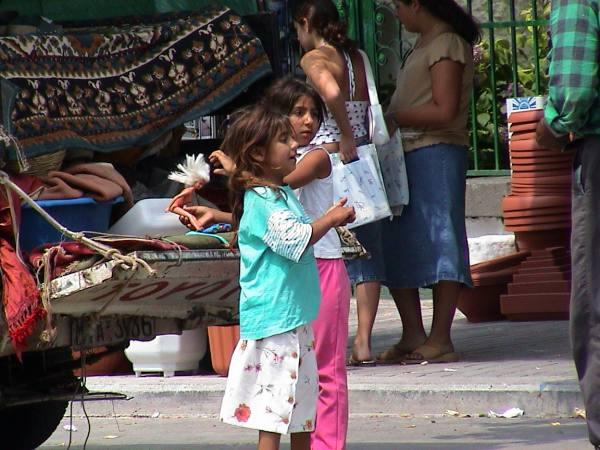 Zigeuner kinderen op Lesbos