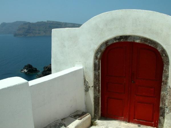Mooie deur, Santorini