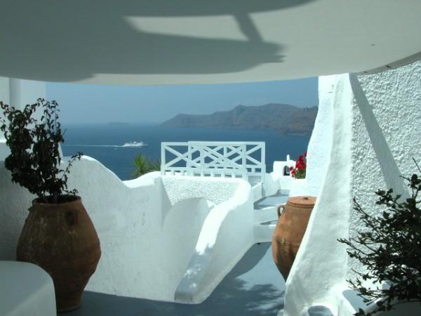 Schitterende balkonnetjes Santorini