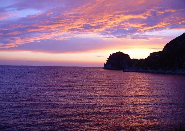 Corfu, avondschemering