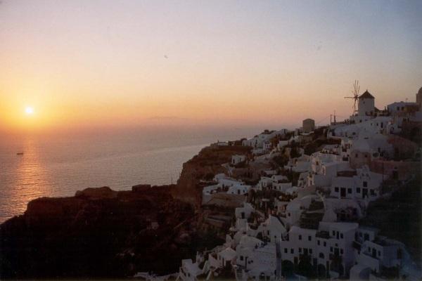 Oia Santorini, zonsondergang