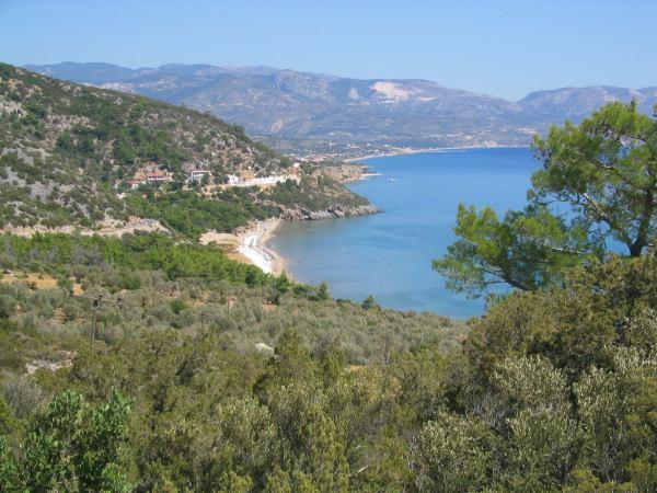 Samos, baai van Psili Ammos