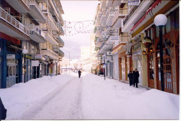 Sneeuw in Griekenland