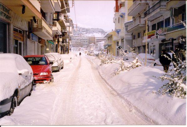 Heel veel sneeuw in Florina