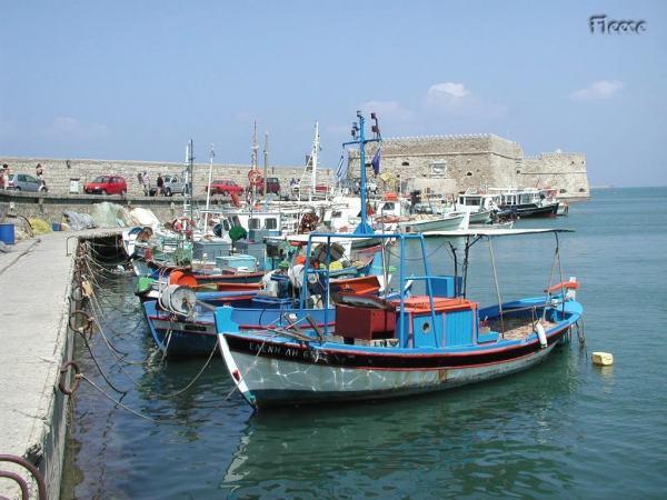 Haven Heraklion inktvissen - Foto van Fabienne