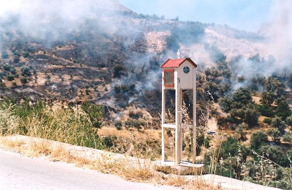 Brand Kreta - Foto van Henny de Boorder uit Dordrecht