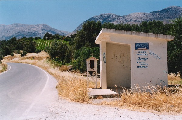 Bushokje Kreta - Foto van Henny de Boorder uit Dordrecht