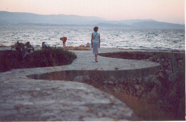 Katavothres in Lassi in Kefalonia in juli 2002. Foto gemaakt door Peter Pasman