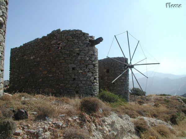 Kreta windmolens Lassithi. Foto gemaakt door Fabienne
