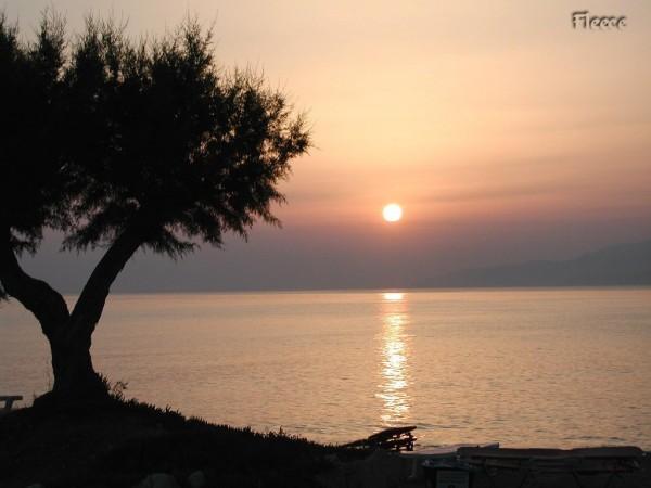 Zonsondergang op Kreta. Foto gemaakt door Fabienne