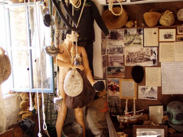 Kalymnos sponsmuseum Foto van Fam. Kesteloot