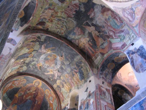Schilderingen Mystras. Peleponessos. Foto van Alex Köning