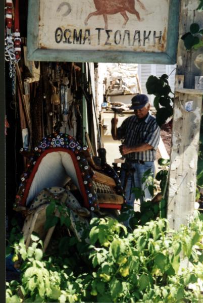 Zadelmaker op Chios.  Foto van Tom Visser