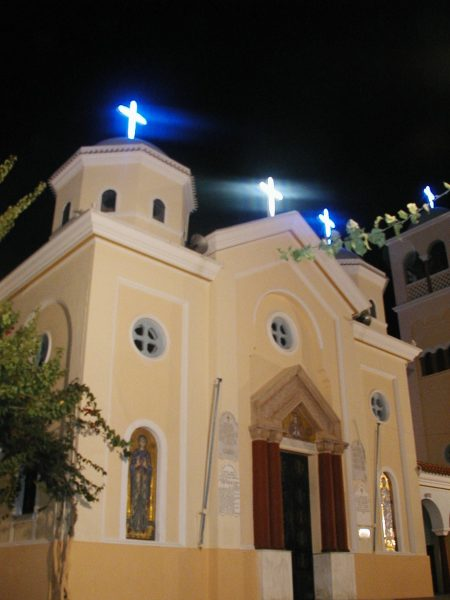 Kos Kerk by night Foto: Steven Loquet