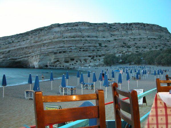 Matala, Kreta. Foto van Mieke Zebregs