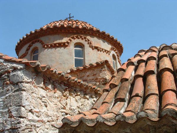 Mystras (Byzantijnse ruïne stad) kerkje 2. Peleponnesos Foto: Marcel Dekker
