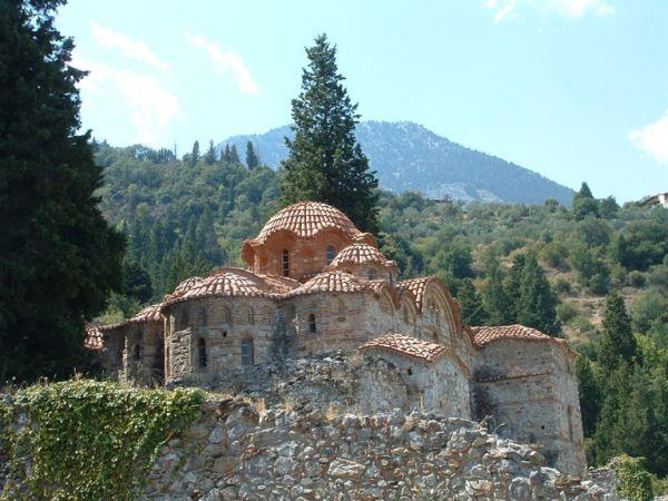 Mystras (Byzantijnse ruïne stad) kerkje 3. Peleponnesos Foto: Marcel Dekker