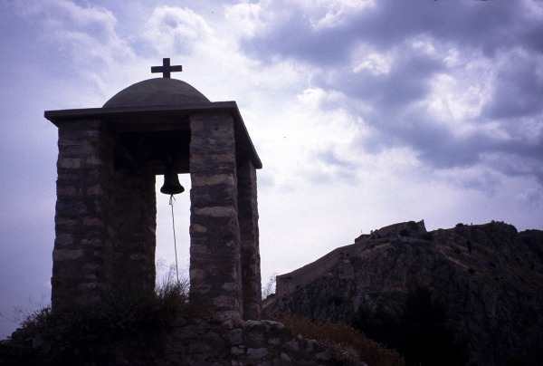 Kappeltje bijPalamidi-fort in Náfplio. Foto van René Papavoine