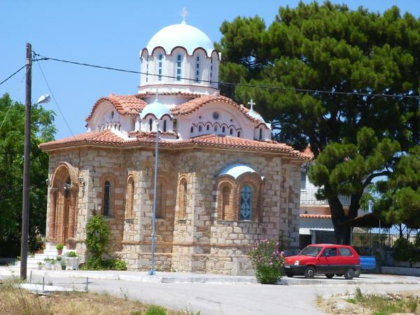 Kerkje op Samos - Foto: W. Morsink