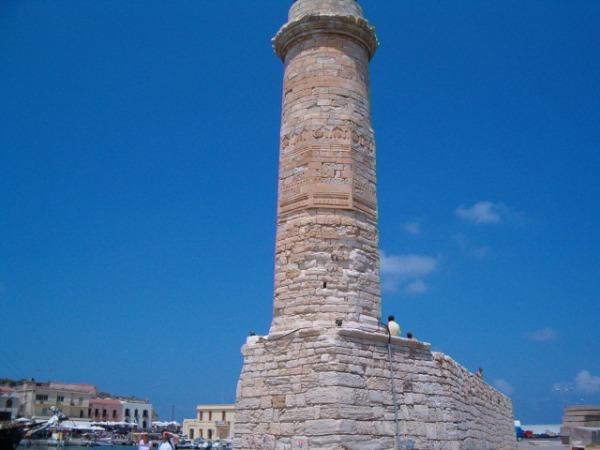 Vuurtoren in Rethymnon, Kreta. Foto van Fam van de Reyen