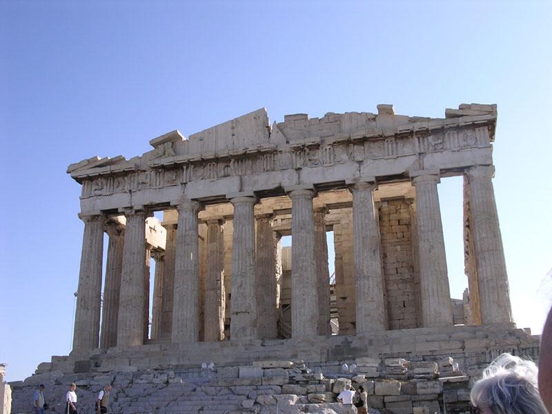 Het beroemde Parthenon in Athene. Foto van Irene