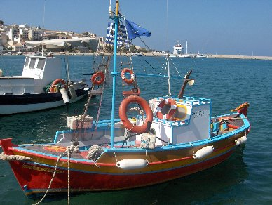 Vissersboot op Kreta