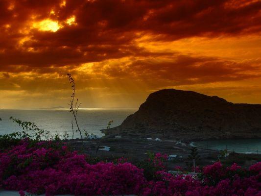 Zonsondergang Kasos - Foto von joopvdl