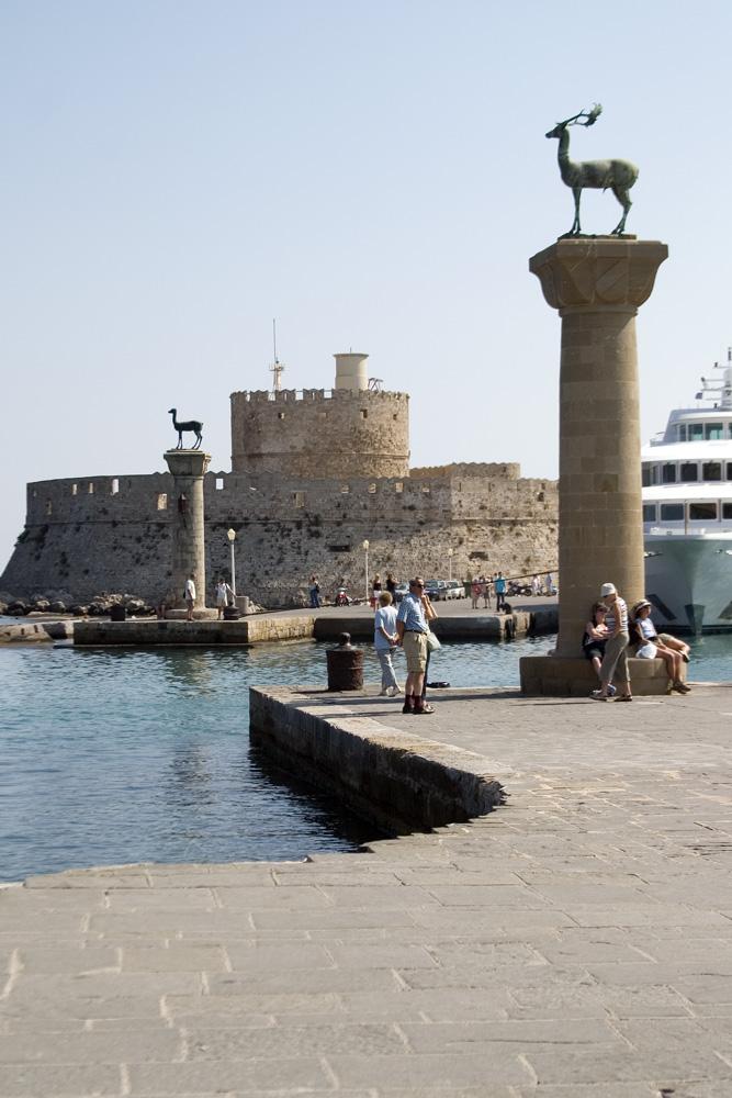 foto Rhodos stad - De oude haven