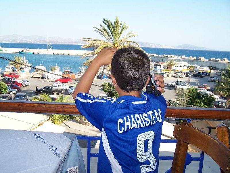 Uitzicht op de haven van Agia Galini