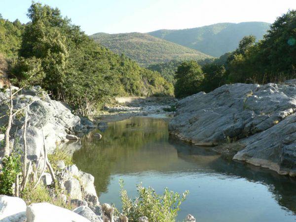 De Nestos rivier. - Foto von Anna