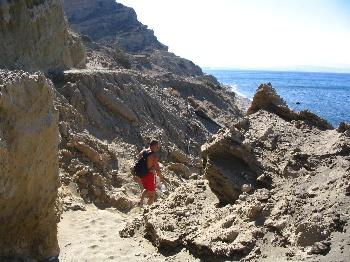 Wandelen in de buurt van agia galini op Kreta