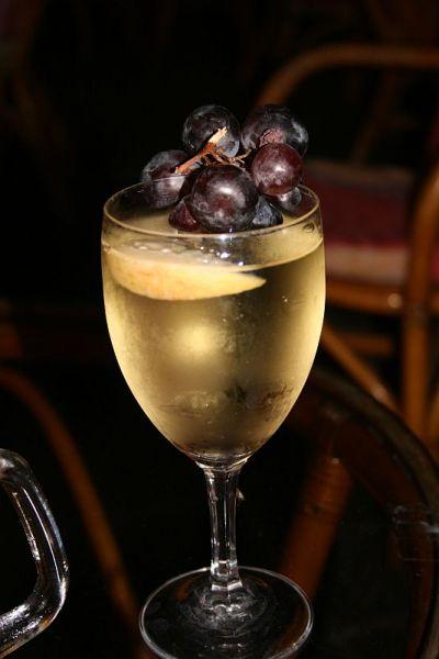glas Griekse wijn