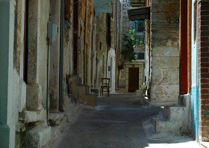 foto Een straatje in Pyrgi, een schilderachtig tafereel - Chios