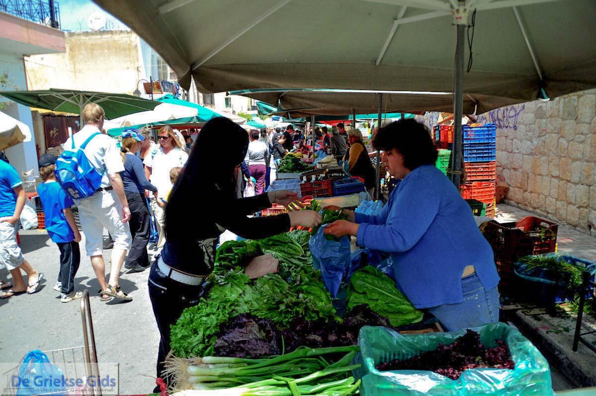 foto Groenten verkopen op de markt  | Chania stad | Kreta