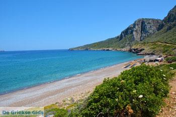 Beachbar aan het strand bij Kakia Lagada Kythira - 3 - Foto van De Griekse Gids