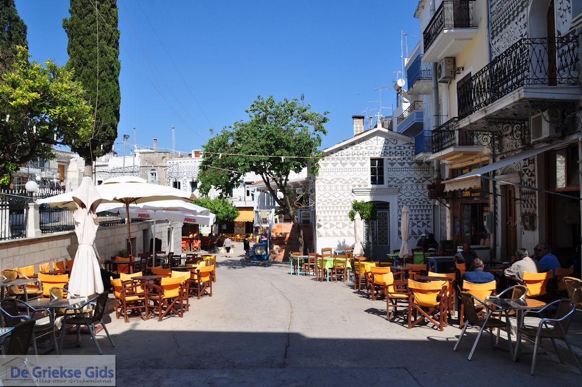 foto Pyrgi dorpsplein - Eiland Chios
