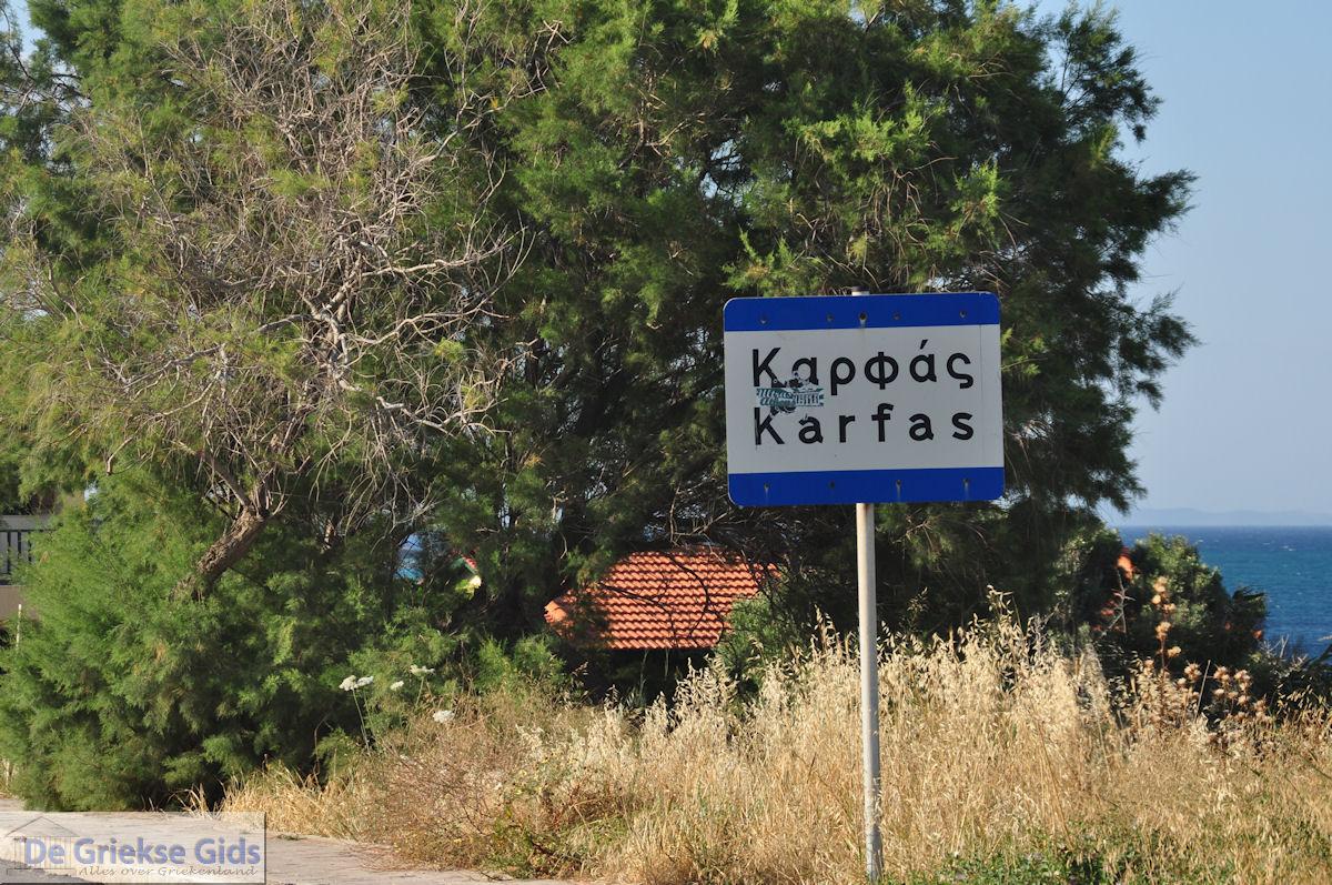 foto Het bordje Karfas - Eiland Chios