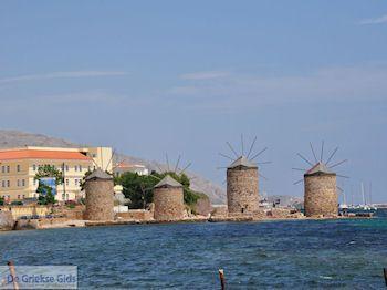 De 4 molentjes bij Chios stad - Eiland Chios - Foto van De Griekse Gids