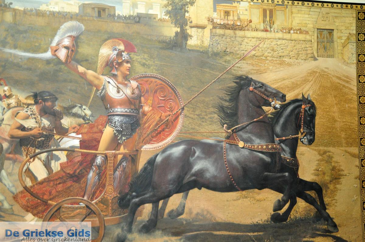 Achilles op zijn strijdwagen