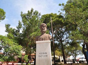Het beeld van Odysseus - Stavros - Ithaki - Ithaca - Foto 045 - Foto van De Griekse Gids