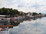 Mooie foto van het vissershaventje van Skala Kallonis