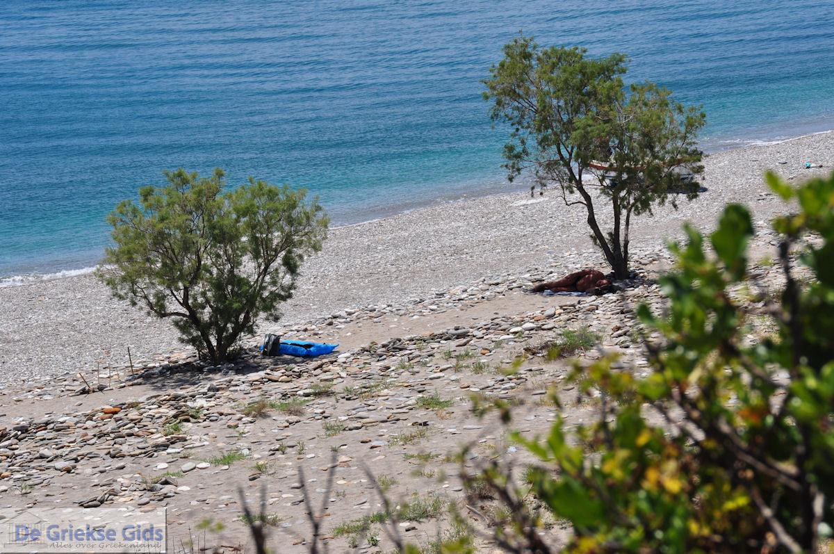 foto Een verlaten kiezelstrand bij Kampos (Votsalakia)  - Eiland Samos