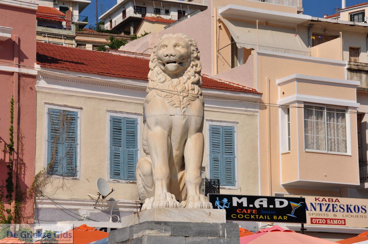 foto Leeuw Samos stad op het Pythagoras plein - Eiland Samos