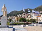 Griekse vlaggen in Samos stad - Eiland Samos - Foto van De Griekse Gids